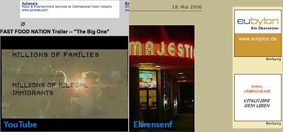 Textads auf YouTube und Ehrensenf.de