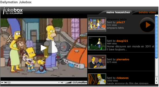 Dailymotion Jukebox