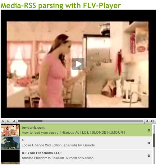 Media RSS im FLV-Player