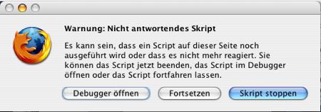 Unresponding Javascript