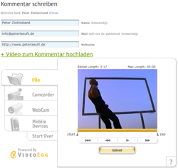 Videokommentar erstellen