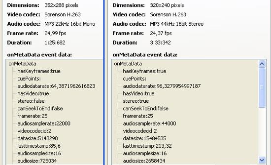 Metadaten in FLV-Dateien