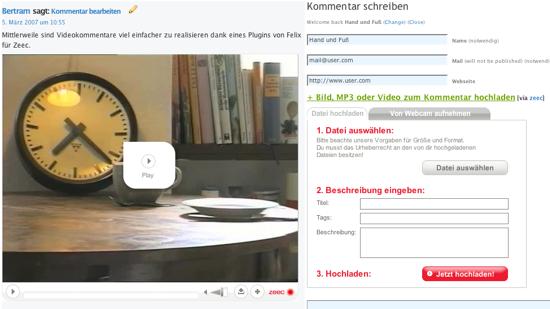 Videokommentare via Zeec.