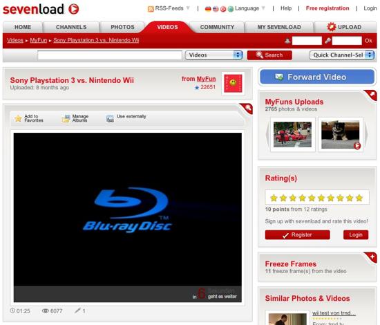 Sevenload Werbung