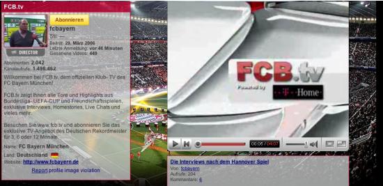 FC Bayern auf YouTube